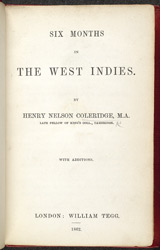 Six Months In The West Indies -Title Page